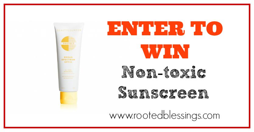 Non-toxic Sunscreen giveaway